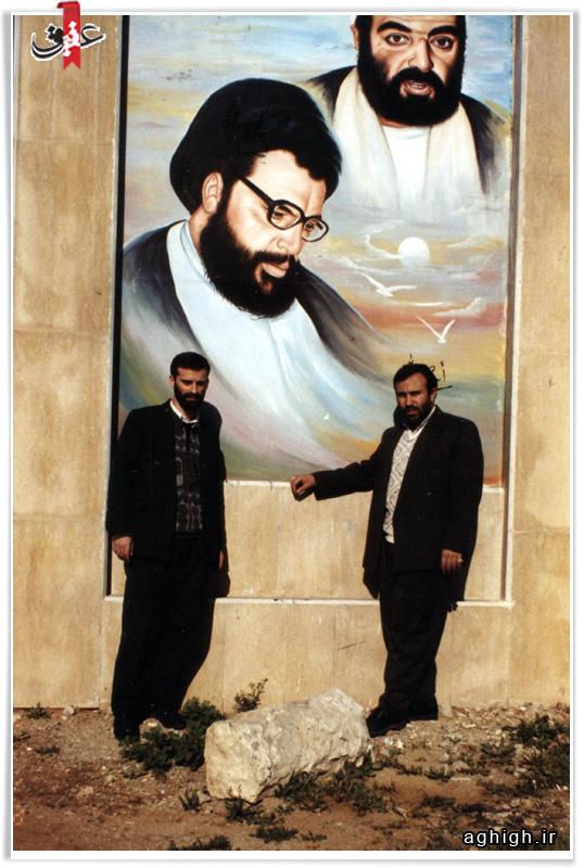 عکس حاج علی قربانی و حاج یدالله پاشازاده در لبنان