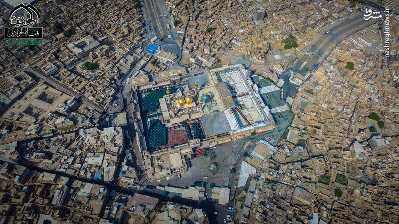تصویر هوایی از حرم شریفین جوادین (ع)